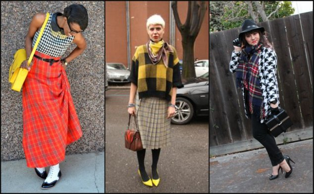 Modern Mix of Plaid & Houndstooth
